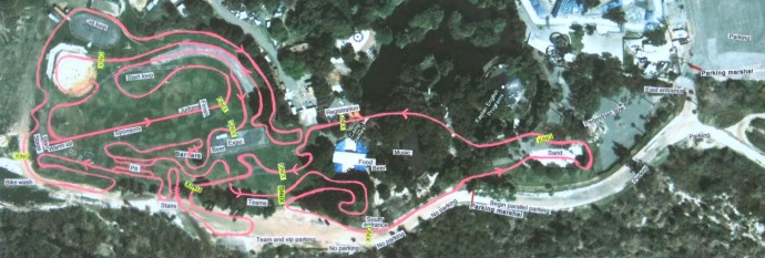 revised spooky cross course map