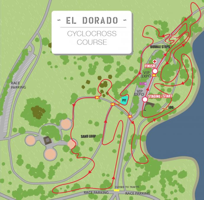 El Dorado Park 2015 course map