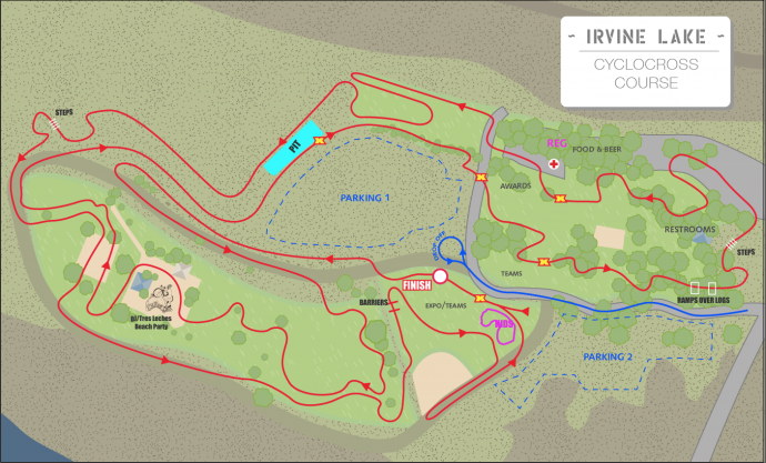 Irvine Lakeview Spooky CX Course Map-690x417