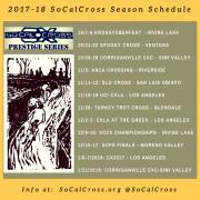 SoCalCross Season Calendar 2017-18