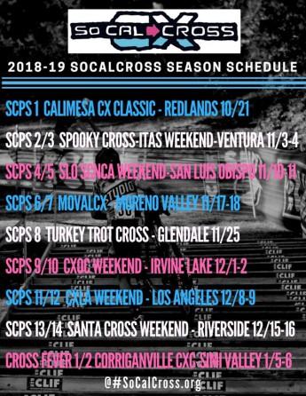cross series schedule